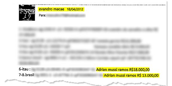 Depósito para o ex-deputado Adrian Mussi (Foto: Reprodução )