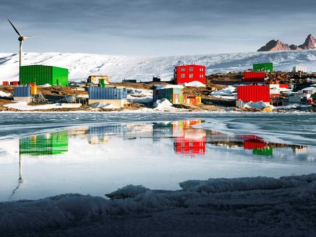 Base de Mawson na Antártida (Foto: Chris Wilson / Divisão Antártica Australiana / via AFP Photo)