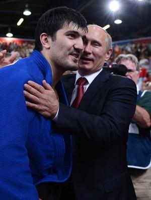 Tagir Khaibulaev Vladimir Putin judô londres (Foto: AFP)