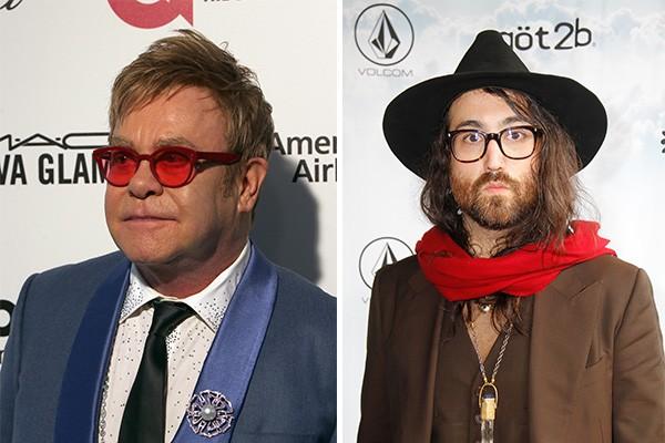 Por sua vez, Elton John é padrinho de Sean Lennon, filho de John Lennon com Yoko Ono (Foto: Getty Images)