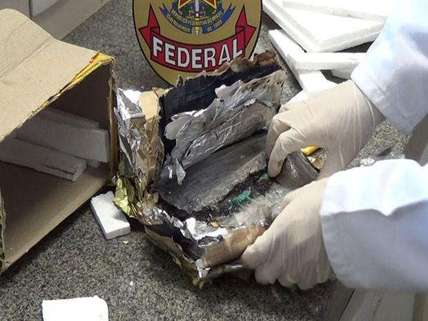 Cocaína foi enviada através dos Correios (Foto: Divulgação/PF)