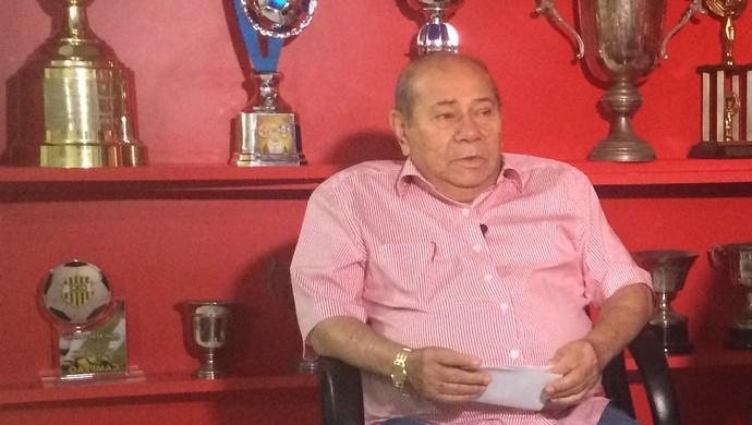 José Rocha presidente interino América-RN (Foto: Luiz Henrique/GloboEsporte.com)