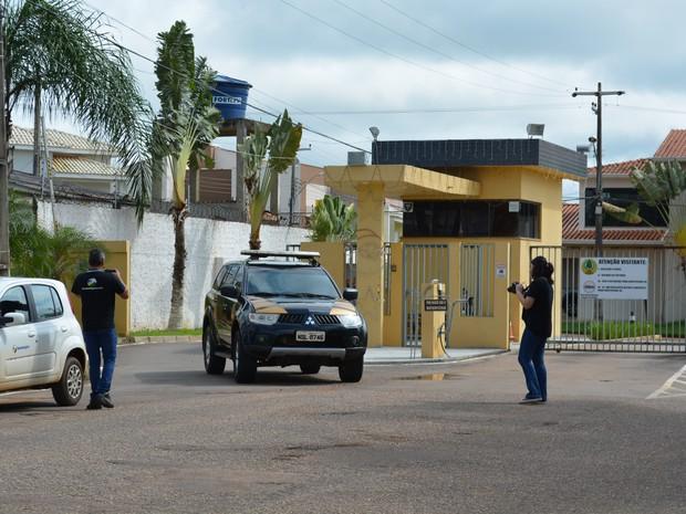 PF realizou buscas na casa do irmão de prefeito de Porto Velho (Foto: Matheus Henrique/G1)