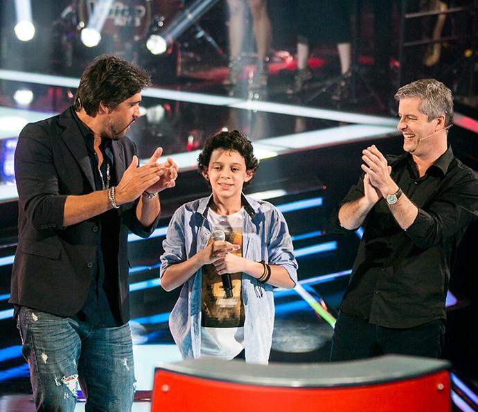 Participante escolheu Victor & Leo como técnicos (Foto: Isabella Pinheiro/Gshow)