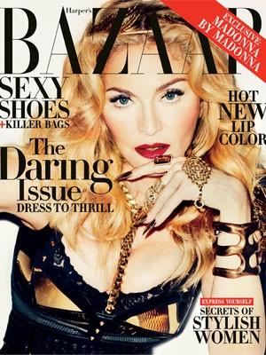 Madonna na capa da revista Harper's Bazaar (Foto: Divulgação)