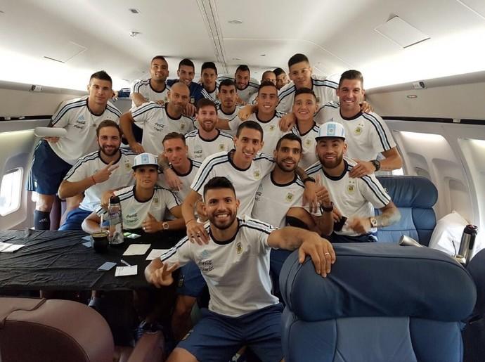 Argentina Avião (Foto: Reprodução/Twitter)