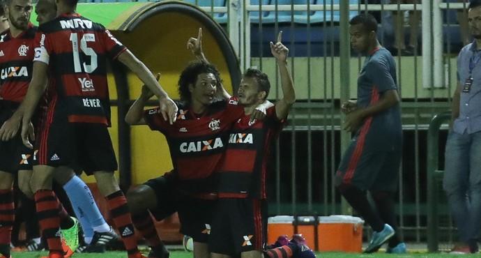 Renê comemora gol contra o Bangu (Foto: Gilvan de Souza/Flamengo)