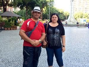 A baiana Viviane Soares Carvalho desistiu do passeio por causa da demora (Foto: Káthia Mello / G1)