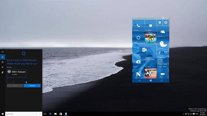 SMS entre PC e celular será possível no Windows 10 (Foto: Reprodução/WM Power User)
