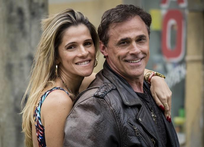 Ingrid Guimarães e Oscar Magrini durante as gravações (Foto: TV Globo)