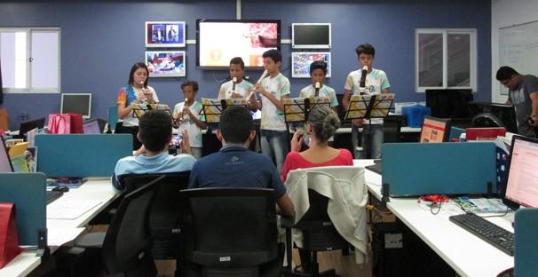Jornalistas da TV Clube recebem homenagem (Foto: Laurivânia Fernandes/ Rede Clube)