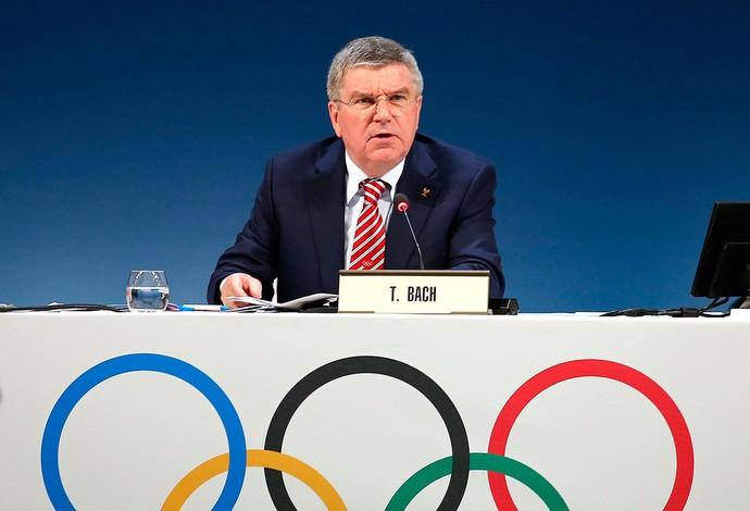 Thomas Bach evento do COI em Mônaco (Foto: Reuters)