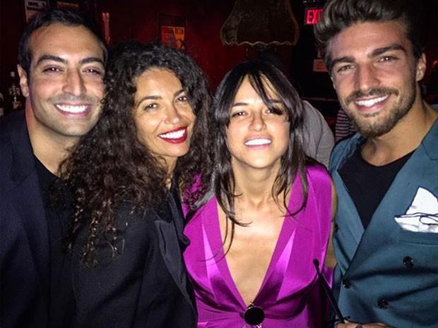 Michelle Rodriguez com amigos em Nova York, nos Estados Unidos (Foto: Instagram/ Reprodução)