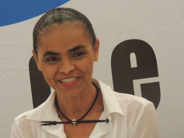 Marina Silva em coletiva no Recife (Foto: Luna Markman / G1)
