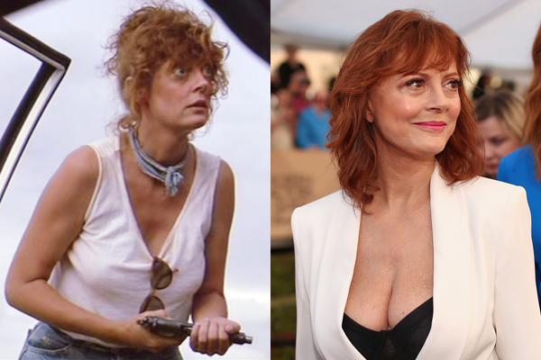 Susan Sarandon em 1991 e atualmente (Foto: Divulgação)