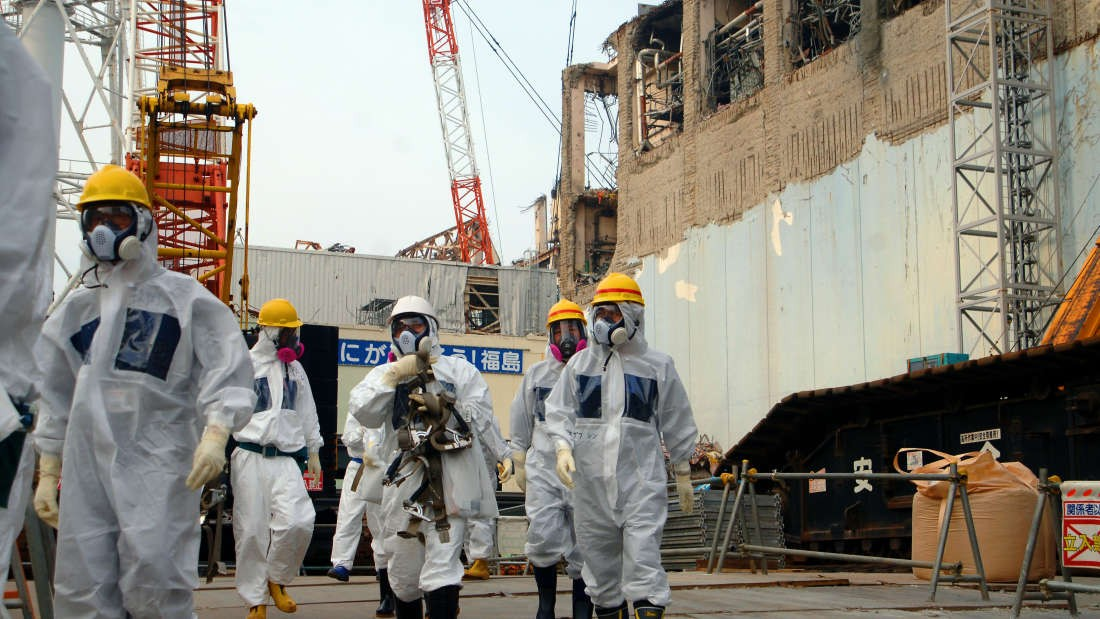 Especialistas em energia em Fukushima, 2013 (Foto: Wikimedia Commons)