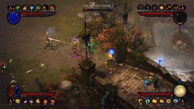 Até quatro jogadores ao mesmo tempo podem jogar 'Diablo III' localmente (Foto: Divulgação/Blizzard)