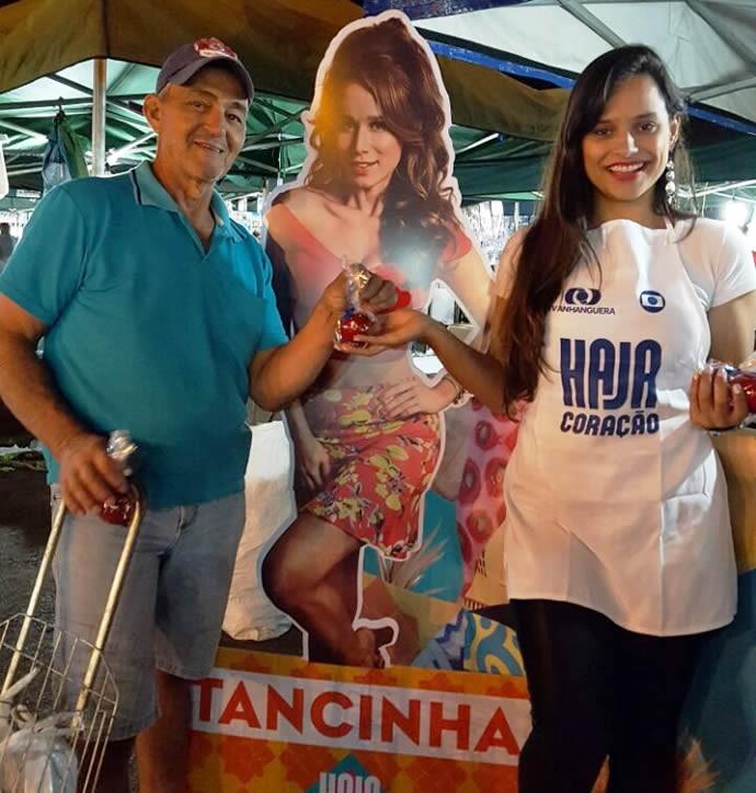 """Foto com os """"mockups"""" dos personagens. (Foto: TV Anhanguera)"""