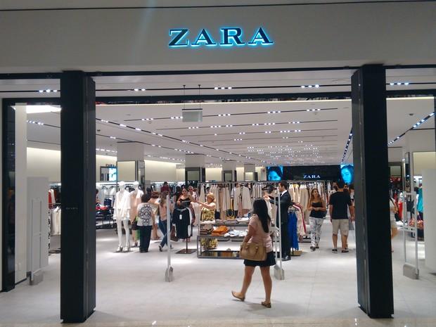 A Zara também é uma das lojas exclusivas trazidas pelo shopping a Fortaleza. (Foto: Gabriela Alves/G1)