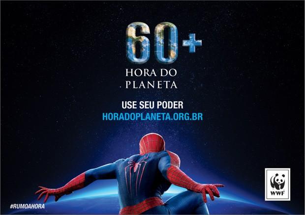 Homem-aranha será embaixador de campanha ambiental 'Hora do Planeta', organizada pela WWF. (Foto: WWF/Divulgação)