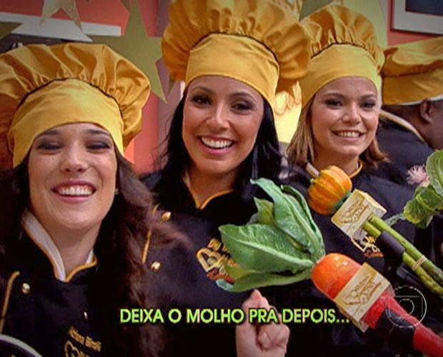 Meninas do Super Chef arrasam na performance (Foto: Mais Você / TV Globo)