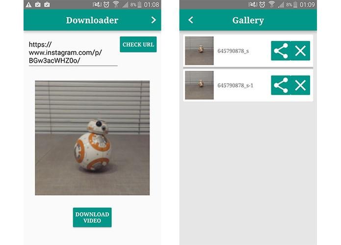 App InstaGetter tem interface direta e permite baixar conteúdos de posts do Instagram (Foto: Reprodução/Barbara Mannara) (Foto: App InstaGetter tem interface direta e permite baixar conteúdos de posts do Instagram (Foto: Reprodução/Barbara Mannara))