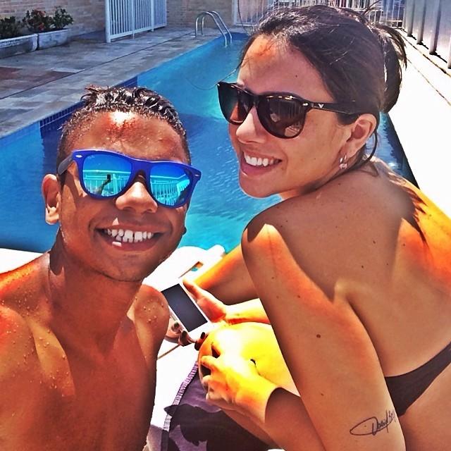 David Braz zagueiro Santos esposa