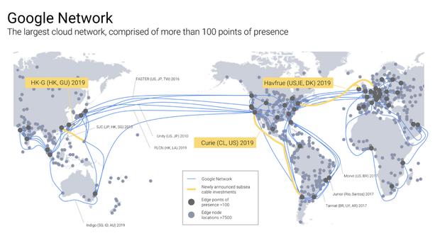 Extensão dos cabos  (Foto: Divulgação / Google)