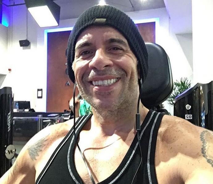 Leandro compartilha foto após treino na academia (Foto: Arquivo Pessoal)