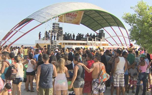Macapá Verão no balneário da Fazendinha  (Foto: Reprodução/TV Amapá)
