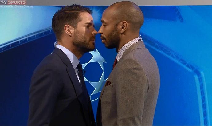 BLOG: Henry imita boxeador e quase beija ex-jogador do Liverpool em brincadeira