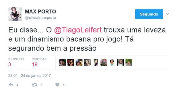 Tiago Leifert ganha elogios na web (Foto: Reprodução/Twitter)