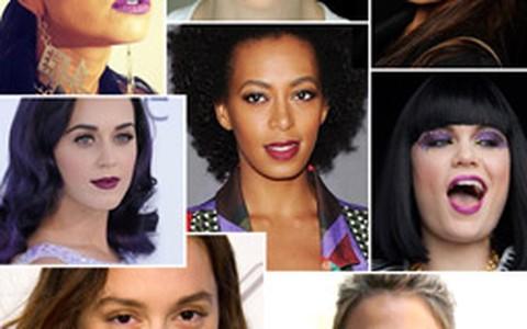 Purple lips: inspire-se no make das famosas e adote o batom púrpura