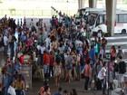 Movimento é intenso em terminal rodoviário no retorno a Aracaju