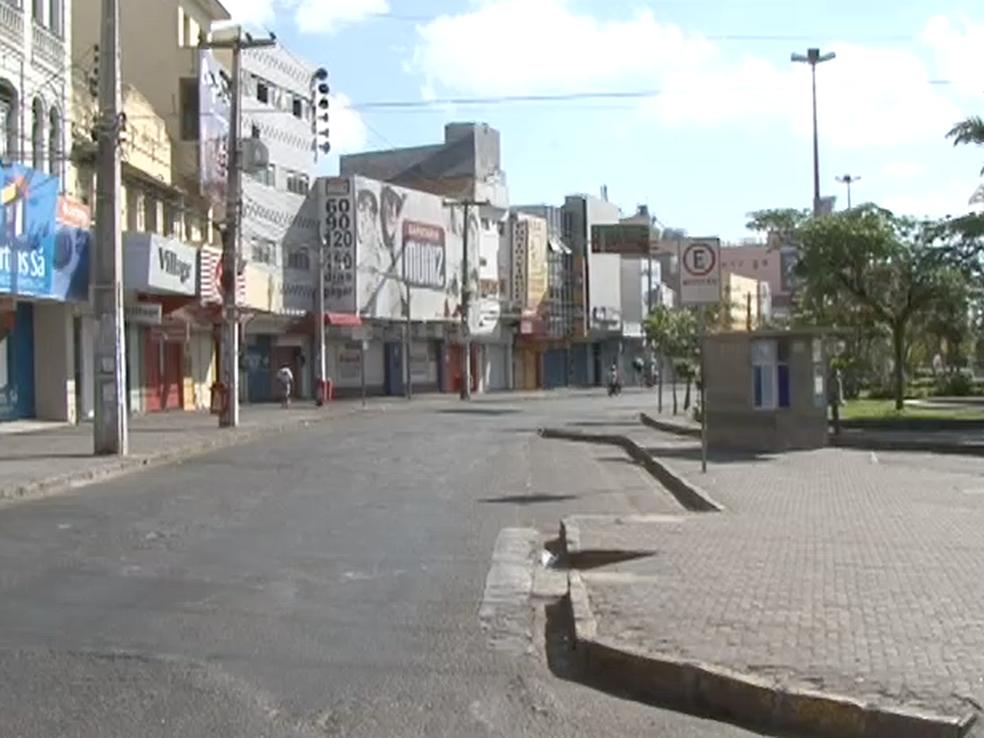 Comércio  de Caruaru será fechado  (Foto: Reprodução/TV Asa Branca)