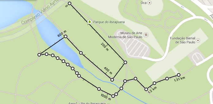 Google Maps exibe distância entre vários pontos traçados pelo usuário (Foto: Reprodução/Paulo Alves)