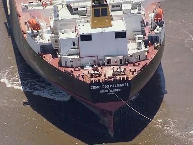 Navio Zumbi dos Palmares vai passar 48 horas no mar (Foto: Reprodução/TV Globo)