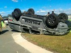 PMs ficam feridos após carro capotar em treinamento na Grande BH