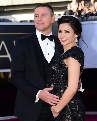 Channing Tatum e Jenna Dewan  no Oscar (Foto: Frederic J. Brown / AFP / Agência)