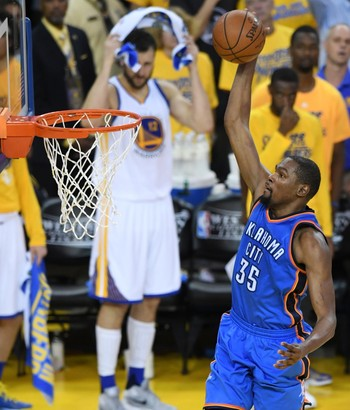 Golden State Warriors x Oklahoma City Thunder - Jogo 5 - Durant (Foto: Getty Images)