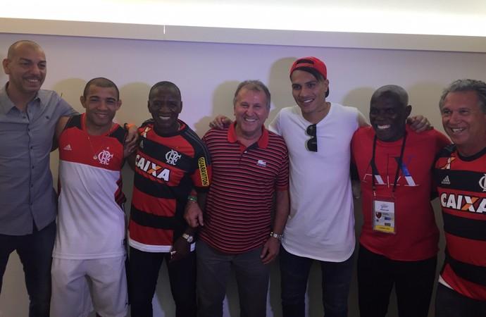Mozer, José Aldo, Adílio, Zico, Guerrero, Cláudio Adão e Rondinelli (Foto: Cadu Machado / Master Sports & Mkt)