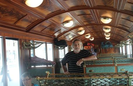José de Abreu viajou de trem pelo interior da Suíça Arquivo pessoal