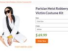 Fantasia de Kim Kardashian roubada em Paris com mordaça causa polêmica