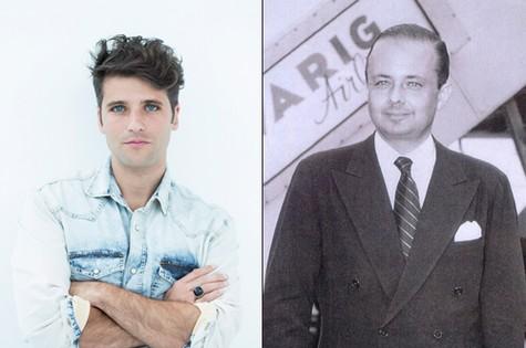 Bruno Gagliasso e Jorge Guinle na juventude (Foto: Simone Marinho e arquivo)