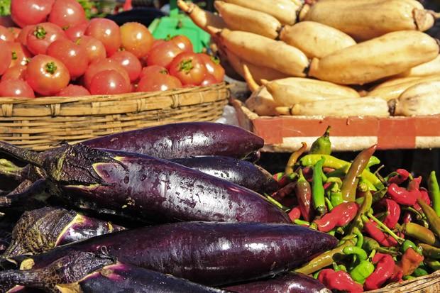 A berinjela é o ingrediente principal utilizado emum prato vegetariano que imita o sabor do peixe (Foto: Giselle Paulino)