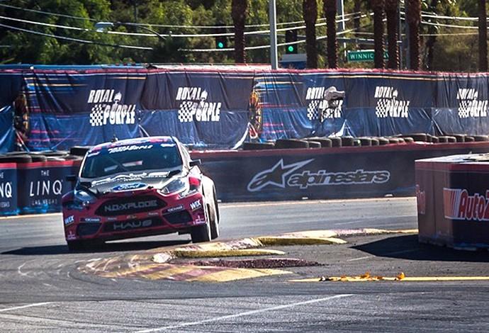 Nelsinho Piquet sai otimista do primeiro dia da decisão do GRC em Las Vegas (Foto: Kyler Huber)
