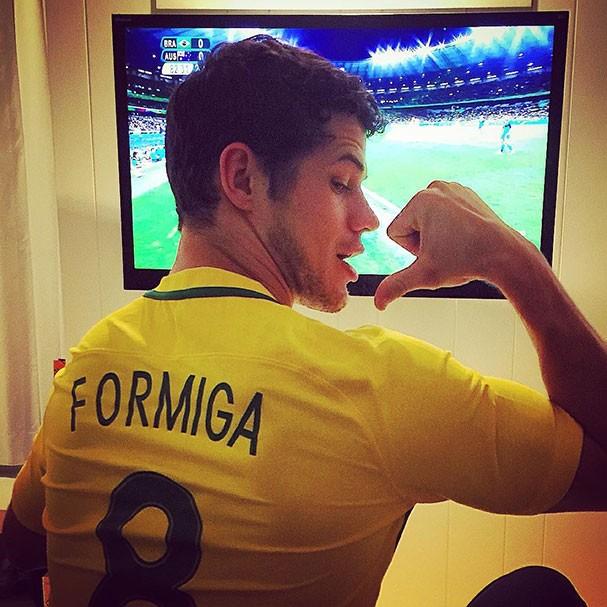 José Loreto torce por Formiga (Foto: Reprodução/Instagram)