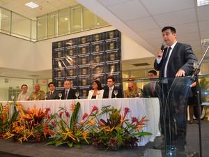 Diretor-geral da PF, delegado esteve em Roraima para a inauguração do prédio (Foto: Vanessa Lima/G1 RR)