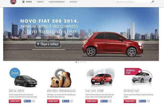 Fiat conquista o prêmio de Melhor Site (Foto: Reprodução)