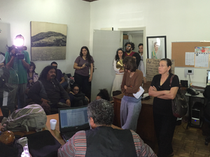 Artistas ocupam sede do Iphan na capital de MS (Foto: Gabriela Pavão/ G1 MS)